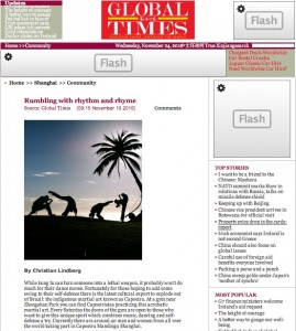 "Press about us: ""Rumbling with rhythm and rhyme"", Global Times"